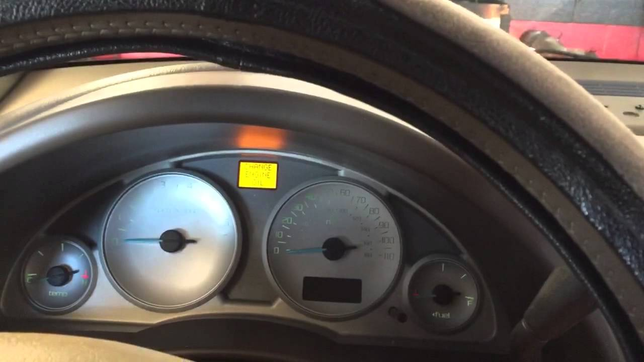 Video Reset Change Engine Oil Light On 2002 2007 Buick Rendezvous